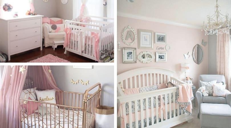 15 Cutest Baby Girl Nursery Room Ideas Pink Girly Habitat For Mom