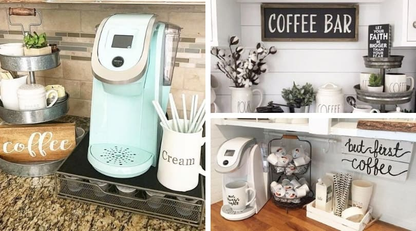 8 Coffee Bar Ideas For The Kitchen Counter Decor And Organization Habitat For Mom