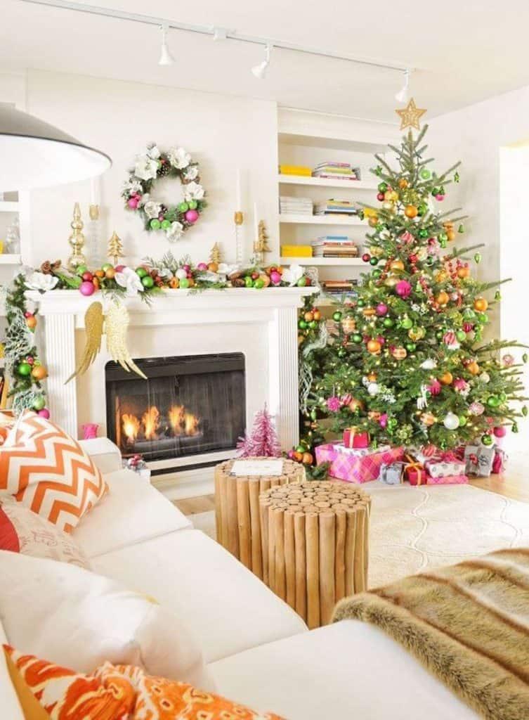 dekorasi natal rumah ruang keluarga